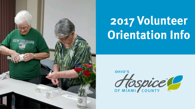 2017 Volunteer Orientation Dates