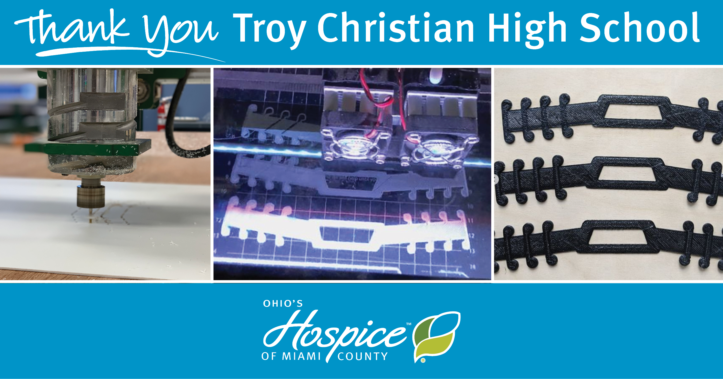 Students At Troy Christian High School Make Face Mask Support Straps